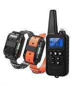 Collier d'entraînement de chien de 800 m de chiens de chiens électriques 600M télécommande imperméable rechargeable avec écran LCD pour tous les sons de vibration de choc