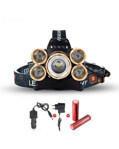 LED phare 5000 Lumens haute puissance LED Headlight Boruit 5xCREE XM-L 4 Mode projecteur complet Set