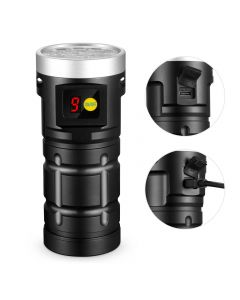 NiteBeam x12 Osram LEDS 10000 Lumen Rechargeable USB Type-C LED Lampe de poche avec piles 3x18650