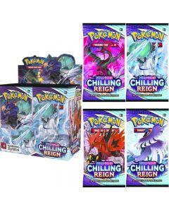 360pcs Pokémon TCG: Carte de collection de boîte d'affichage de booster de règne glacial d'épée et de bouclier