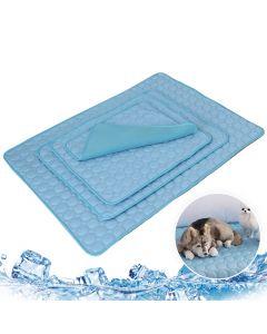 Pet Soft Summer Cooling Mats Blanket Pet Dog Self Cooling Mat Pad Summer Car Seat Ice Silk Mat Pet Cooling Non Sticking Blanket Pet Soft Summer Cooling Mats Blanket Blanket