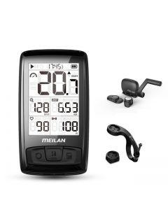 Meilan M4 compteur de vitesse de vélo sans fil moniteur de fréquence cardiaque capteur de vitesse de cadence chronomètre étanche