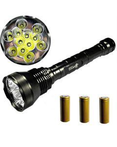 Eternalfire 12T6 haute puissance 12 * CREE XM-L T6 LED TORCH 13800 LUMENS 5 MODESTES LED LED Lampe de poche Ensemble complet