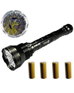 Eternalfire 15T6 Haute puissance 15 * Cree XM-L T6 LED Torch 18000 Lumens 5 modes LED Lampe de poche Ensemble complet