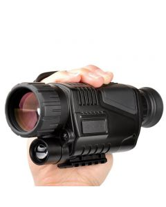 5 x 40 Vision nocturne infrarouge Vision monoculaire de la nuit Infrarouge Portée numérique pour la chasse à télescope longue portée avec caméra intégrée