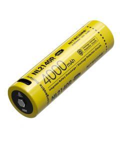 NITECORE NL2140R 4000MAH 3.6V 14.4Wh 21700 Batterie rechargeable USB-C LI-ION