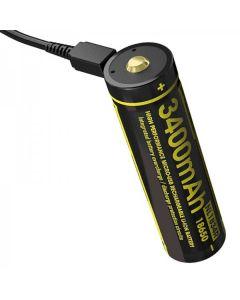 NITECORE NL1834R 3.6V batterie rechargeable micro-USB 18650 haute performance