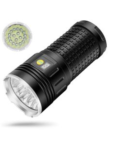 NiteBeam 18xcree XML T6 4 modes 15000 Luminaire rechargeable USB Type-C lampe de poche LED