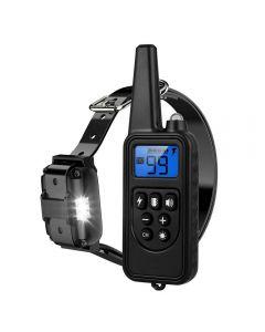 800m Electric Dog Training Collar Pet Remote Control Waterproof Rechargeable avec écran LCD pour all size Shock Vibration Sound