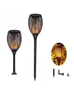 Solar Flamme Light Outdoor Dancing Clocking Torch Lights Étanche 96 Lanterne LED Lanterne Solar Spotlights Dusk à Dawn Lampe d'éclairage pour voitures de jardin PATH PATO PATO
