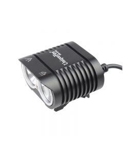 Uniquefire HD-016 2 * CREE XM-L2 4 modes 1800 lumens LED vélo de vélo de vélo avant lumière-noir