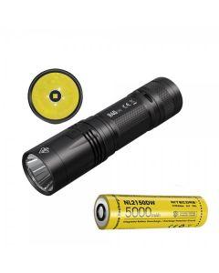 NITECORE R40 V2 CREE XP-L2 V6 LED 1200 Lumens USB Rechargeable 21700 batterie de batterie de batterie