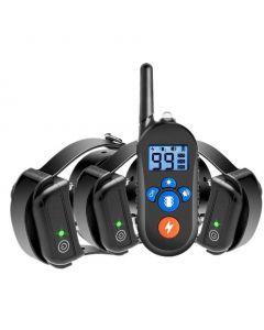 800m Collier d'entraînement pour chiens électriques, collier de choc pour chien w/ 3 mode d'entraînement, collier d'entraînement électronique de choc de chien avec télécommande pour petits chiens moyens grands, 100%imperméable à l'eau