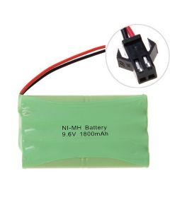 NI-MH AA 9.6V 1800mAh Grande batterie de connecteur SM