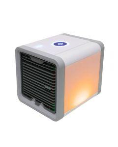 USB Mini Portable Air Climidateur Humidificateur Purificateur 7 Couleurs Lumière Desktop Ventilateur de refroidissement de l'air Ventilateur de refroidisseur d'air pour bureau maison
