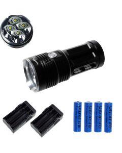 Eternalfire King 4T6 4 * CREE XM-L T6 LED TORCH 4000 Lumens 3 modes LED lampe de poche à LED