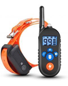800m Electric Dog Training Collar Pet Remote Control Waterproof Rechargeable Dog Shock Collar w/ 3 Mode d'entraînement pour petits chiens moyens de grande taille