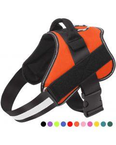 Harnais de chien, gilet ajustable réglable sans traction avec poignée pour la marche extérieure