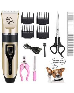 Pet Charge Electric Clippers, Pet Electric Shaver Cat and Dog Electric Hair Clipper, Dog Professional Beauty Trim Set Can Be Charged Pet Charging Electric Clippers, Pet Electric Shaver Cat and Dog Electric Hair Clipper, Dog Professional Beauty Trim Set Ca