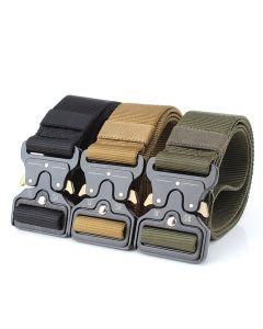 Courroies tactiques Enniu Ceinture en nylon avec boucle en métal ajustable entraînement intensif de la ceinture de la ceinture de la ceinture de chasse