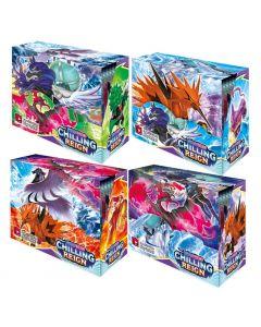4X360pcs Pokémon TCG: Épée et Bouclier Chilling Reign Booster Présentoir Collection Jeu de Cartes Jouet Enfants Cadeau