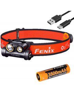 Fenix HM65R-T 1500 Lumen Dual Beam USB-C Lampe frontale rechargeable, léger pour trail running avec LumenTac Battery Organizer
