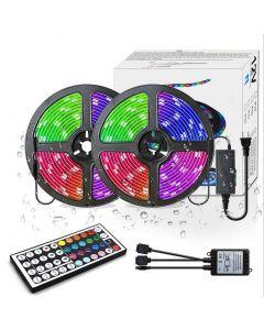 LED Bande lumières RGB 300led Couleur 10M Changement de couleur 5050 Éclairage de la corde à LED flexible LED Kit d'éclairage à bande avec 44 touches IR Remote Contrôleur et Alimentation UL pour la chambre à coucher Home Kitch