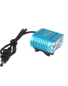 Uniquefire HD-016 2 * CREE XM-L2 4 modes 1800 lumens LED vélo de vélo de vélo avant la lumière-bleu