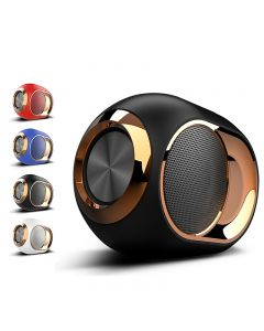 Haut-parleur de Bluetooth d'oeuf Golden, haut-parleur sans fil haut de gamme portable, 108 dB stéréo Bluetooth haut-parleur Mini Bluetooth Player, haut-parleur Super Subwoofer