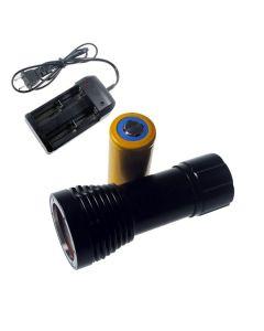 D32VR Lumière de plongée 2 x Cree XM-L T6 + 2 XCREE XP-E 100 mètres sous-marins Photographie de la photographie de plongée lampe de lampe de poche + 1x32650 + chargeur