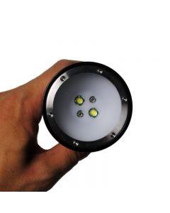 Plongée lampe de poche Eternalfire D32VR LED de plongée de plongée 100 mètres lumière rouge et blanc sous-marine photographication flong