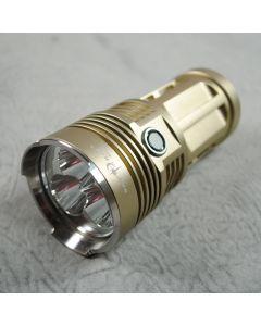 Sky Ray King 3 * CREE XM-L2 3 modes 3500-Lumen désert jaune couleur lampe de poche de lampe de poche (4 * 18650)