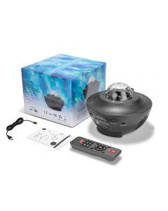 Vague d'eau LED Projecteur LED Blueeteth USB Control vocal Lecteur de musique LED Night Night Light Lampe de projection romantique Anniversaire cadeau d'anniversaire