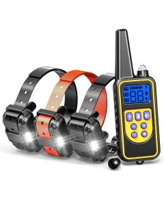 800yd Electric remote Dog Training Collar Waterproof Lcd Display for All Size beep Shock Vibration mode