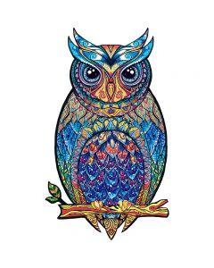 Puzzles d'animaux en bois uniques Puzzles Mystérious Owl 3D Cadeau de puzzle pour Meilleur cadeau Adultes et enfants