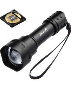 Lampe de poche Ultrafire T20 10W 850nm 940nm Vision nocturne zoomable lampe de poche LED