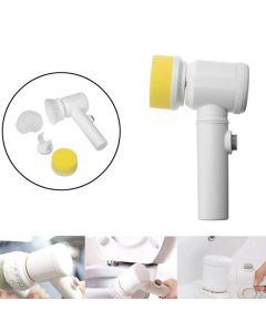 Brosse de nettoyage électrique de poche Brosse Pinceau Brosse de nettoyage sans fil pour salle de bain Cuisine Outils de nettoyage de ménage