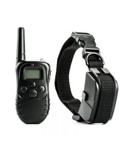 300m Electric Dog Training Collar Waterproof Pet Remote Control with LCD Remote for All Size Shock Vibration Sound Pet Collar