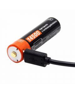 14500 BATTERIE LI-ION rechargeable micro USB 3.7V.