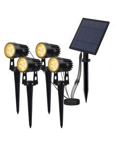Solar Powered Spotlight Panneau solaire Éclairage extérieur Paysage Jardin Jardin Séparatament Lampe