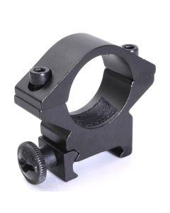 Support de la lampe de poche Support optique de montage de la torche de mont de trou de trous 25.4mm adapté aux rails Weaver 20mm