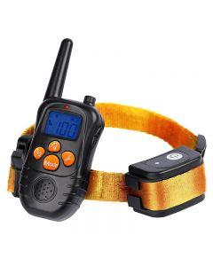 Nouveaux colliers électroniques de dressage de chiens à distance de 300 M avec écran bleu LCD Écran bleu Rechargeable 0 Niveaux Colliers électroniques pour chiens pour animaux de compagnie