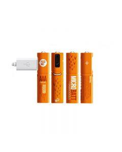 Batterie rechargeable 1.2V 450MAH AAA Ni-MH USB pour la souris de contrôle à distance Charge rapide par micro-câble USB (4 pack + câble USB)