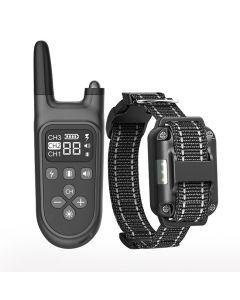 2021 Nouveau 800m Electric Dog Training Collar Pet Remote Control Waterproof Rechargeable avec écran LCD pour all size shock vibration sound