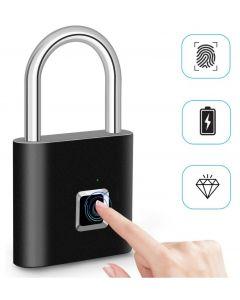 LOCKING TIGHIGHT LOCK Smart Cadlock Thumbprimer Porte-porte Portable Anti-Theft Fingerprint serrure pour la valise de tiroir de sac