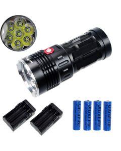 Eternalfire King 7T6 7 * CREE XM-L T6 LED TORCH 7000 LUMENS 3 modes LED lampe de poche à voyant noir-noir
