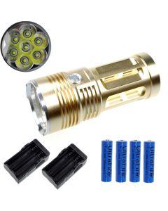 Eternalfire King 7T6 7 * CREE XM-L T6 LED TORCH 7000 LUMENS 3 modes LED lampe de poche-GLOD-GLOD