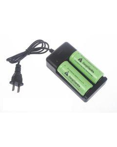 Chargeur de batterie pour double 18650 / 26650 accus (AC 100 ~ 240V)