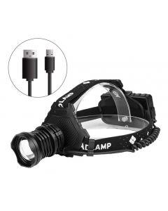 Lampe frontale XHP70 Led lad la plus puissante 8000LM Lampe frontale USB Rechargeable Phare imperméable à l'eau Zoom Pêche Lumière Utilisation 18650 Batterie