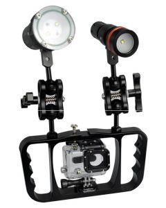 Nouvelle Archon Z08 Plonge de la lampe de lampe de la lampe de la lampe de la lampe de la lampe de la lampe de la photographie de la photographie Gopro / Caméra Support de la lampe de poche
